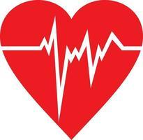 Heart Beats Flat Icon vector