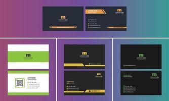 Modern Creative Business card design bundle vector