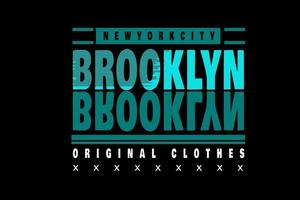 new york city brooklyn typography design vector