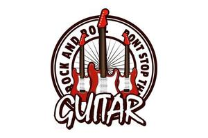 don't stop the music illustration design with guitar vector