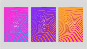 Minimal abstract vector cover design template. Future geometric gradient background. Vector templates for placards, banners, flyers, presentations and reports