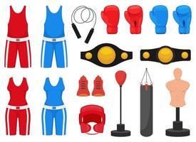 Boxing elements vector design illustration isolated on white background