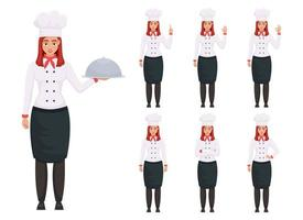 Chef woman vector design illustration isolated on white background