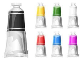Paint tube vector design illustration isolated on white background