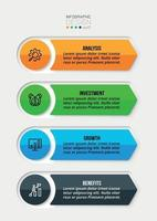 Business work flow  infographic template. vector