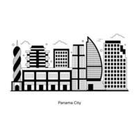 Panama Canal City vector