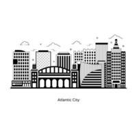 Atlantic City New Jersey vector