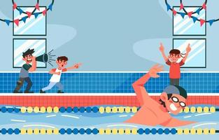 Swimming on Competition vector