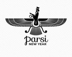 Parsi new year symbol vector. Zorostrian symbol illustration. vector