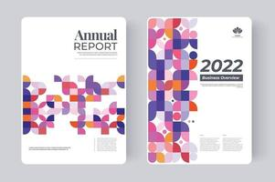 Annual Report Cover design for presentation. Report cover design with abstract graphic. vector