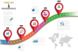 Business roadmap timeline infographic icons designed for abstract background template element modern diagram process web pages technology digital marketing data presentation chart Vector illustration