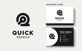 Initial Q with Search icon Logo Design Inspiration vector