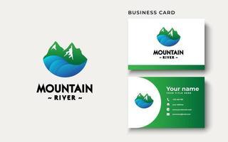 Mountain River Logo Design Inspiration vector