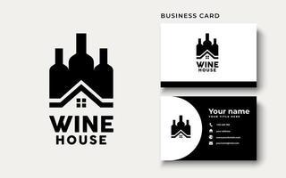 inspiración para el diseño del logotipo de la casa del vino vector