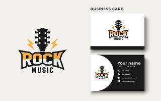 rock clásico country guitarra música vintage retro cinta banner diseño de logotipo vector