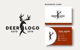 Deer Logo Logo Design Inspiration Isolated in White Background vector