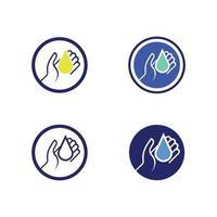 botella de desinfectante de manos e icono de lavado aislado sobre fondo blanco concepto de desinfección botella de alcohol de gel de lavado para la ilustración de vector de higiene