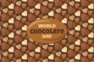 World Chocolate Day Banners With Text And Tasty Dessert Background vector
