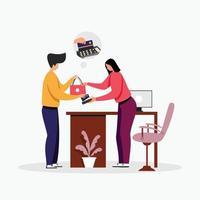 Customer service support  illustration concept vector