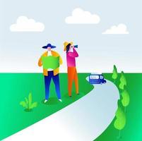 Rental car service vector illustration