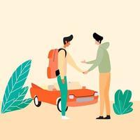 Rental car service vector illustration, Transport rental services