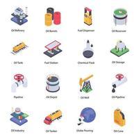 Trending Oil Refinery Elements vector