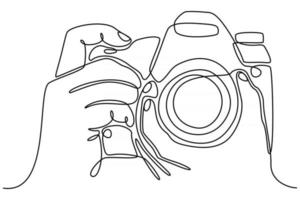 continuous line shooting hand vector illustration