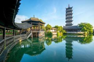 templo bailian en wuzhen, una histórica ciudad escénica en china foto