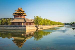 Torre de la esquina de la ciudad prohibida, Beijing, China foto