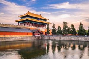 Puerta del poder divino de la ciudad prohibida, Beijing, China foto