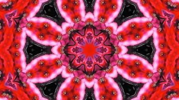 abstrakt färgrikt symmetriskt kalejdoskop video