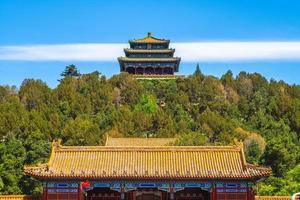 Parque jingshan, un parque imperial en Beijing, China foto