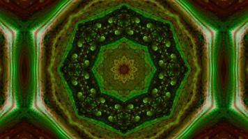 färgglad symmetrisk kalejdoskoprörelse video