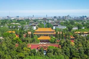 paisaje del parque jingshan en beijing, china foto