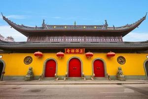 templo del buda de jade en shanghai, china foto