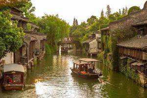 paisaje de wuzhen, una ciudad histórica en china foto