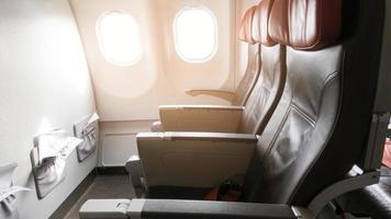 Beautiful view from business class of aircraft photo