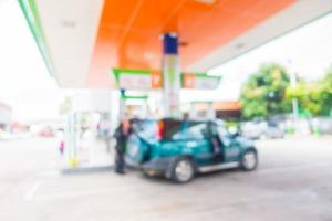 Abstract blur oil and gas service station photo
