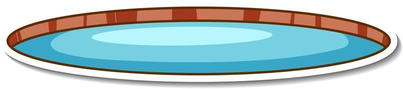 A natural small pond sticker isolated vector