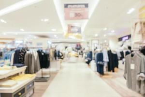 Desenfoque abstracto y centro comercial desenfocado. foto