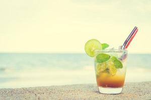 Ice drinking mojito glass photo