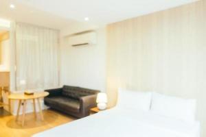 interior de dormitorio borroso abstracto foto