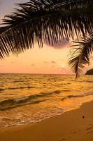 Beautiful paradise island with beach and sea photo
