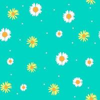 Summer Abstract Seamless Pattern Background with Flowers. Vector Illustration
