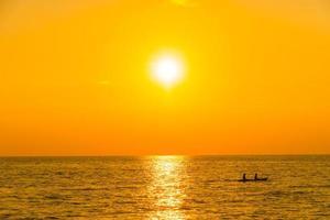 Sunset with sea photo