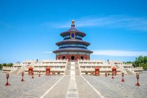 templo del cielo, el hito de beijing, china foto