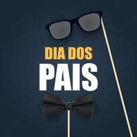 Holiday in Brazil Fathers Day. Portuguese Brazilian Saying Happy Fathers Day vector