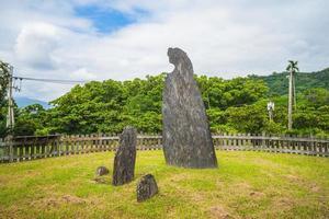 Crescent Stone Pillar at Peinan Site Park, Taitung, Taiwan photo
