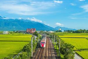 Train at Yuli, Hualien, Taiwan photo