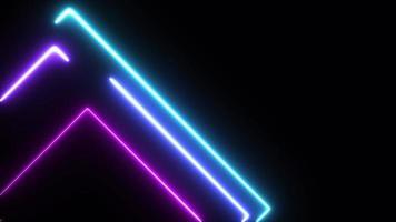 fond de technologie lasers en cours d'exécution au néon video